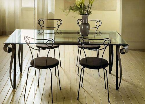 Tavoli soggiorno in ferro battuto decora la tua vita - Tavoli da pranzo ferro battuto e vetro ...
